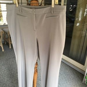 Chico's Size 3 (equiv 16-18) Silver Grey Pants